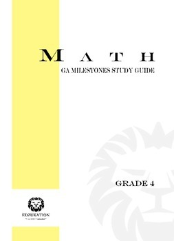 4th Grade Georgia GA Milestones Math Study Guide