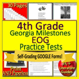 4th Grade Georgia Milestones Test Prep EOG GMAS Language Arts SELF-GRADING TESTS