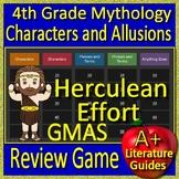 4th Grade Georgia Milestones Test Prep Greek Mythology Allusions Review Game