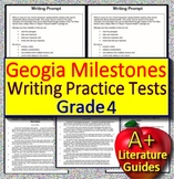 4th Grade Georgia Milestones Writing Practice Tests -  Passages and Prompts GMAS