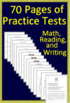 4th Grade Georgia Milestones Writing, Reading, and Math BUNDLE! Tests and Games