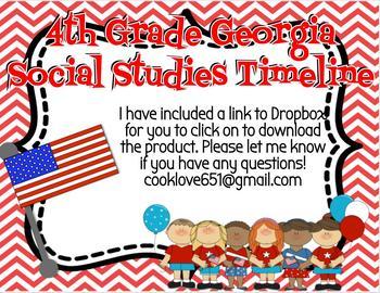 4th Grade Georgia Social Studies Timeline