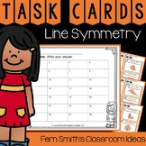 4th Grade Go Math 10.5 Line Symmetry Task Cards