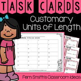 4th Grade Go Math 12.2 Customary Units of Length Task Cards