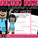 4th Grade Go Math 12.3 Customary Units of Weight Center Games