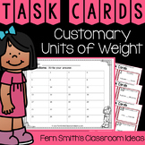 4th Grade Go Math 12.3 Customary Units of Weight Task Cards