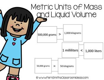 4th Grade Go Math 12.7 Metric Units of Mass and Liquid Volume Center Games
