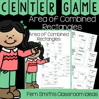 4th Grade Go Math 13.3 Area of Combined Rectangles Center Games