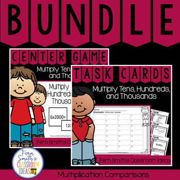 4th Grade Go Math  2.3 Multiply Tens, Hundreds, and Thousands  Bundle