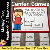 4th Grade Go Math 2.3 Multiply Tens, Hundreds, and Thousands  Center Games