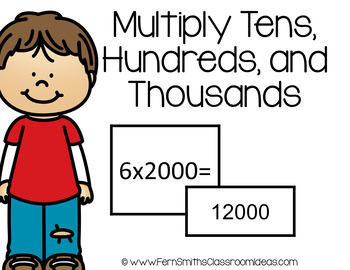 4th Grade Go Math 2.3 Multiply Tens, Hundreds, and Thousands  Center Games
