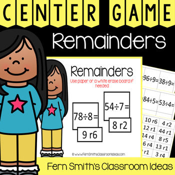 4th Grade Go Math 4.2 Remainders Center Games