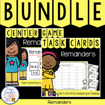 4th Grade Go Math 4.2 Remainders Products Bundle