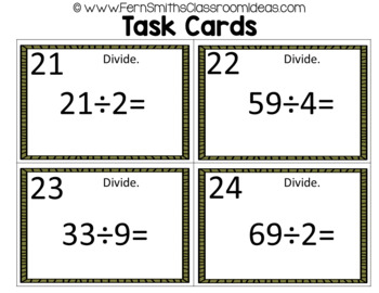 4th Grade Go Math 4.2 Remainders Task Cards