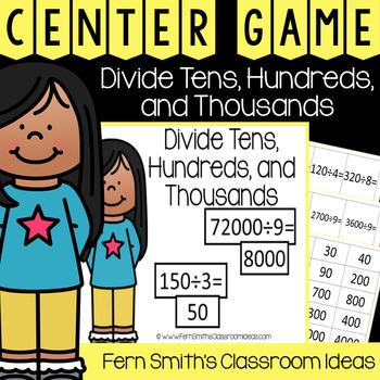 4th Grade Go Math 4.4 Divide Tens, Hundreds, and Thousands Center Games