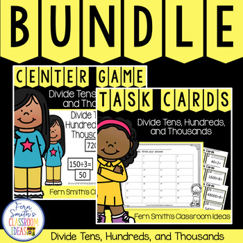4th Grade Go Math 4.4 Divide Tens, Hundreds, and Thousands Products Bundle