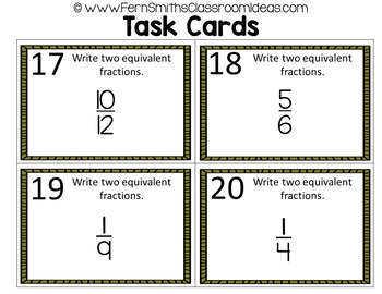 4th Grade Go Math 6.2 Generate Equivalent Fractions Bundle