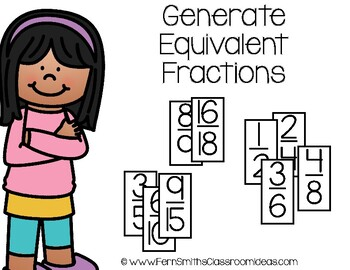 4th Grade Go Math 6.2 Generate Equivalent Fractions Center Games