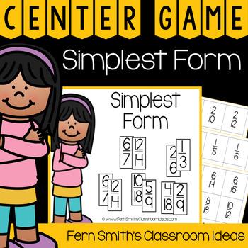 4th Grade Go Math 6.3 Simplest Form Center Games