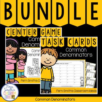 4th Grade Go Math 6.4 Common Denominators Bundle