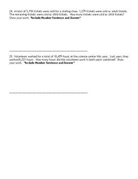 4th Grade Go Math- Chapter 1 Assessment