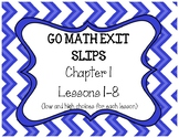 4th Grade Go Math Chapter 1 Exit Slips