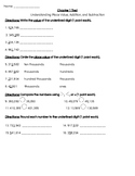 4th Grade Go Math- Chapter 1 Modified Assessment