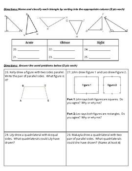 4th Grade Go Math- Chapter 10 Assessment