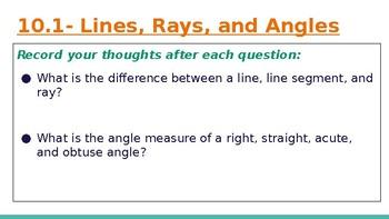 4th Grade Go Math- Chapter 10 Powerpoint