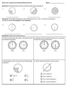 4th Grade Go Math- Chapter 11 Classwork/Homework