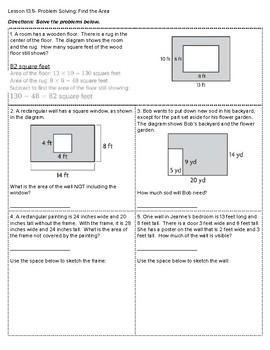 4th Grade Go Math- Chapter 13 Classwork/Homework