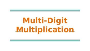 4th Grade Go Math- Chapter 2/3 Powerpoint- Multi-Digit Multiplication