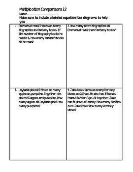 4th Grade Go Math Chapter 2 Word Problems