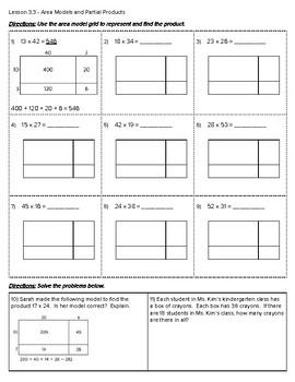 4th Grade Go Math- Chapter 3 Classwork/Homework