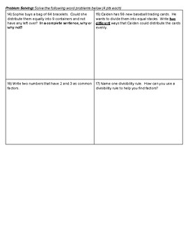 4th Grade Go Math- Chapter 5 Mid-Chapter Checkpoint