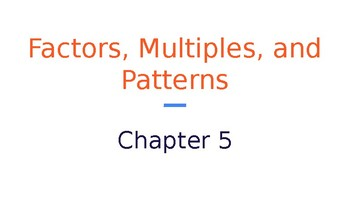 4th Grade Go Math- Chapter 5 Powerpoint