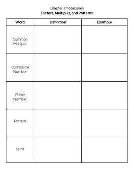 4th Grade Go Math- Chapter 5 Vocabulary