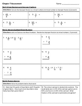 4th Grade Go Math- Chapter 7 Assessment