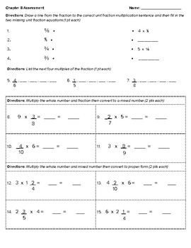 4th Grade Go Math- Chapter 8 Assessment