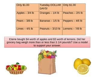 4th  Grade Chapter 8 Math Performance task