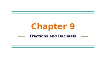 4th Grade Go Math- Chapter 9 Powerpoint
