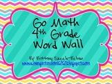 4th Grade Go Math Common Core Vocabulary Word Wall