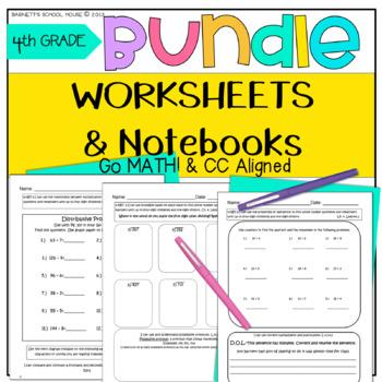 4th Grade Worksheet MEGA BUNDLE!! Morning Work and Noteboo