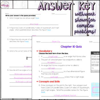 4th Grade Go Math Mid-Chapter Quiz - Chapter 10