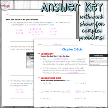 4th Grade Go Math Mid-Chapter Quiz - Chapter 2