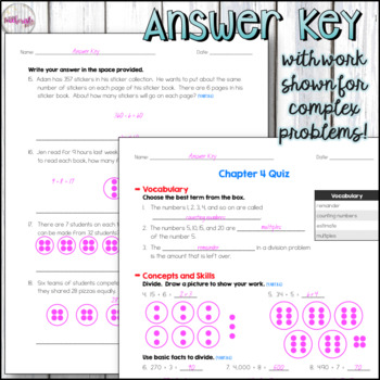 4th Grade Go Math Mid-Chapter Quiz - Chapter 4