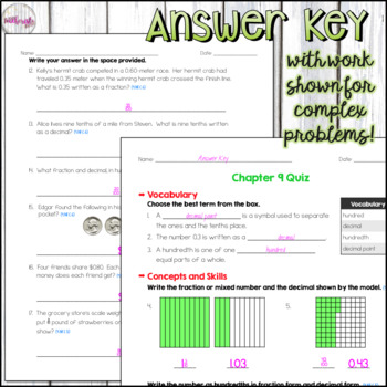 4th Grade Go Math Mid-Chapter Quiz - Chapter 9