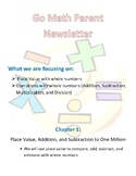 4th Grade Go Math Chapter 1 Newsletter