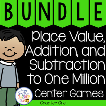 4th Grade Go Math Place Value to One Million Chapter 1 Task Cards Bundle
