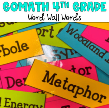 4th Grade Go Math! Word Wall